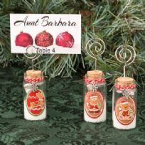 Gingerbread Themed Christmas Wishing Jars Place Card / Photo Holder